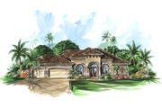 Mediterranean Style House Plan - 3 Beds 3 Baths 2566 Sq/Ft Plan #27-318
