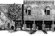 European Style House Plan - 4 Beds 2.5 Baths 2261 Sq/Ft Plan #310-200 Exterior - Front Elevation