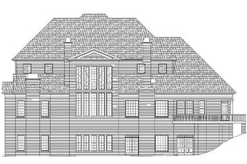 Classical Exterior - Rear Elevation Plan #119-246 - Houseplans.com
