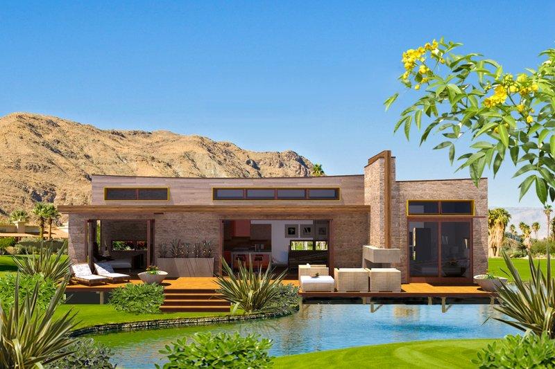 Architectural House Design - Modern Exterior - Front Elevation Plan #484-5