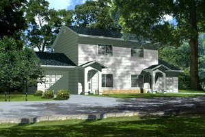 Colonial Exterior - Front Elevation Plan #1-439