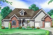 Traditional Style House Plan - 3 Beds 2.5 Baths 1800 Sq/Ft Plan #312-644 Exterior - Front Elevation