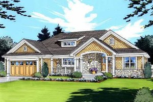 House Design - Traditional Exterior - Front Elevation Plan #46-413