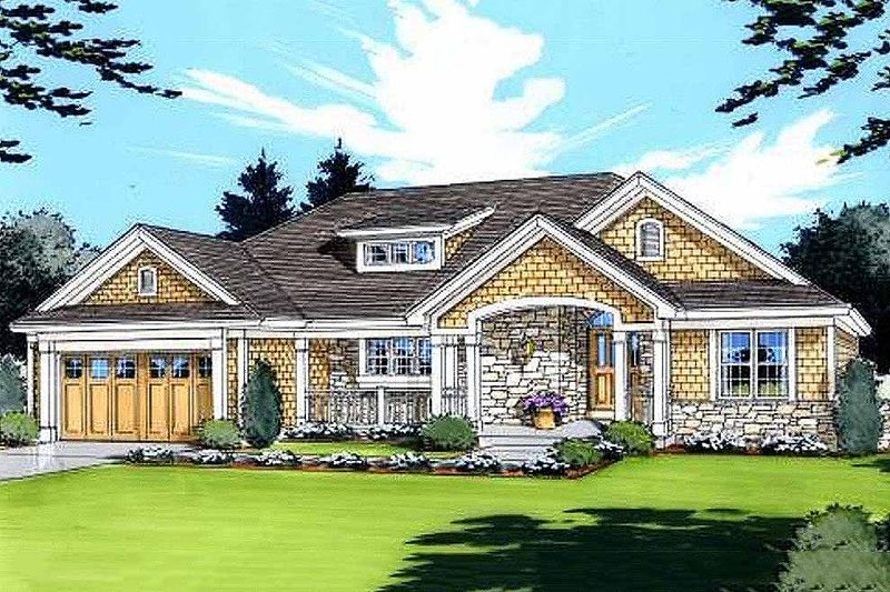 Home Plan - Traditional Exterior - Front Elevation Plan #46-413