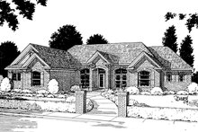 Home Plan - European Exterior - Front Elevation Plan #20-194