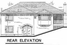 European Exterior - Rear Elevation Plan #18-209
