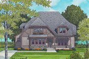 European Style House Plan - 4 Beds 3 Baths 3430 Sq/Ft Plan #413-104 Exterior - Front Elevation
