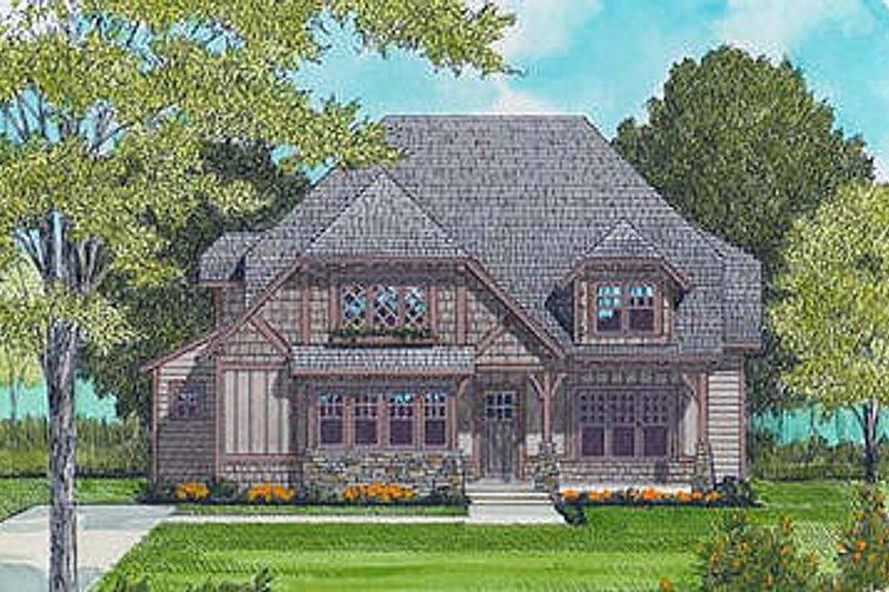 Dream House Plan - European Exterior - Front Elevation Plan #413-104