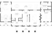 Classical Style House Plan - 5 Beds 2.5 Baths 4250 Sq/Ft Plan #492-4 Floor Plan - Main Floor Plan