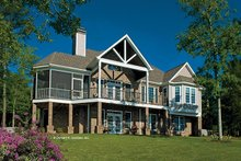 Architectural House Design - Traditional Exterior - Rear Elevation Plan #929-910