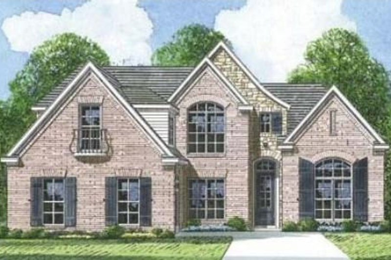 European Style House Plan - 3 Beds 2.5 Baths 2145 Sq/Ft Plan #424-108 Exterior - Front Elevation
