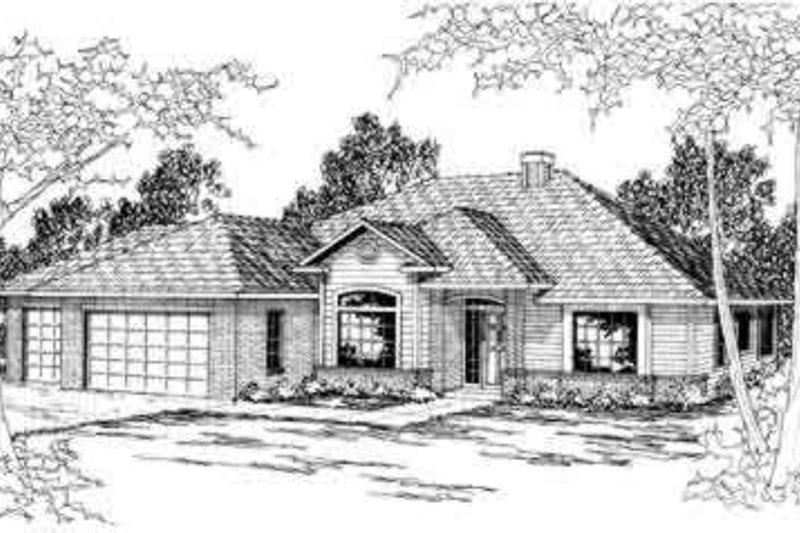 Modern Exterior - Front Elevation Plan #124-297 - Houseplans.com