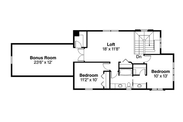 Contemporary Floor Plan - Upper Floor Plan Plan #124-1129
