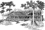Farmhouse Style House Plan - 5 Beds 4 Baths 3549 Sq/Ft Plan #60-582 Exterior - Front Elevation