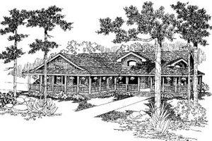Farmhouse Exterior - Front Elevation Plan #60-582