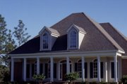 Southern Style House Plan - 4 Beds 4 Baths 2406 Sq/Ft Plan #37-110 Exterior - Other Elevation