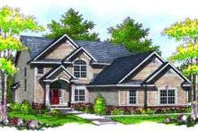 Architectural House Design - Traditional Exterior - Front Elevation Plan #70-733
