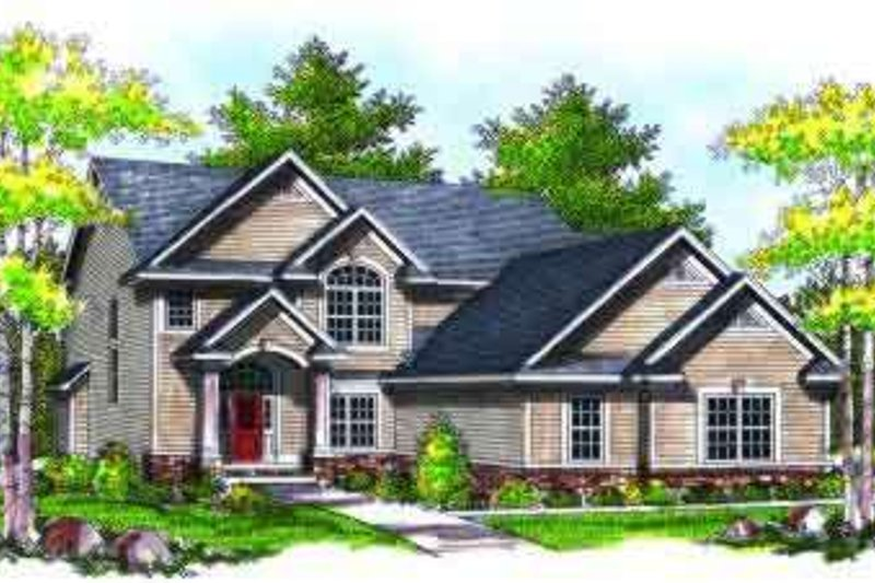 Traditional Exterior - Front Elevation Plan #70-733 - Houseplans.com