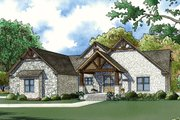 Craftsman Style House Plan - 4 Beds 3.5 Baths 3978 Sq/Ft Plan #923-72 Exterior - Front Elevation