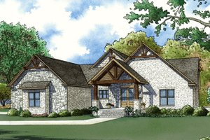 Craftsman Exterior - Front Elevation Plan #923-72