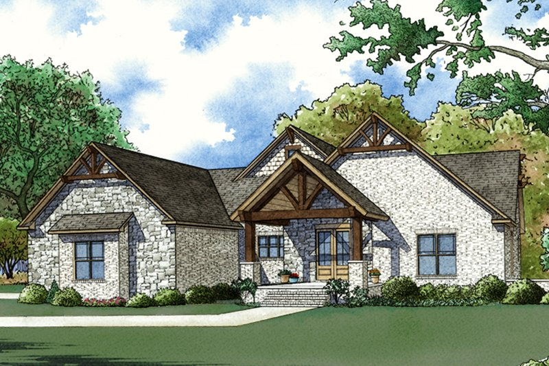 Dream House Plan - Craftsman Exterior - Front Elevation Plan #923-72