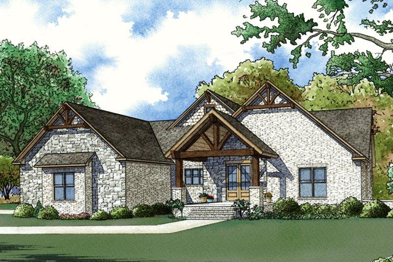 House Plan Design - Craftsman Exterior - Front Elevation Plan #923-72