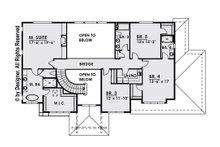 Contemporary Floor Plan - Upper Floor Plan Plan #1066-14