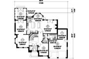 European Style House Plan - 3 Beds 2 Baths 2983 Sq/Ft Plan #25-4856 Floor Plan - Main Floor Plan