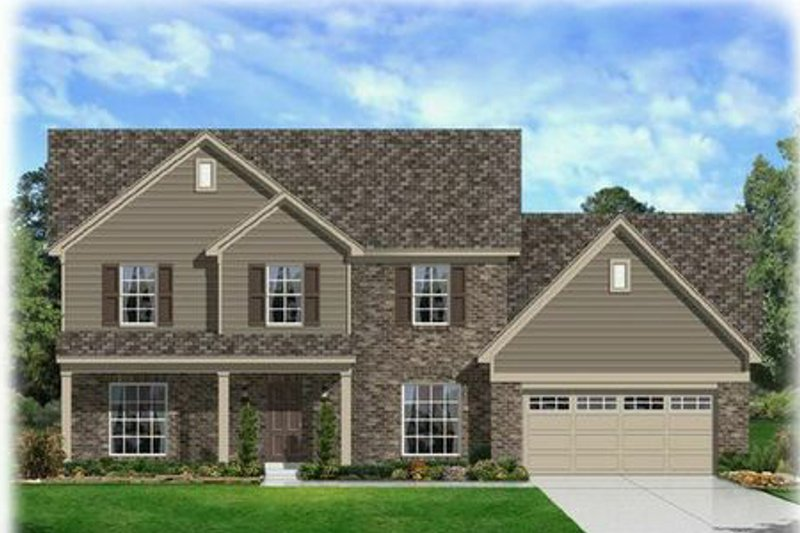 Farmhouse Style House Plan - 5 Beds 2.5 Baths 3672 Sq/Ft Plan #329-387 Exterior - Front Elevation