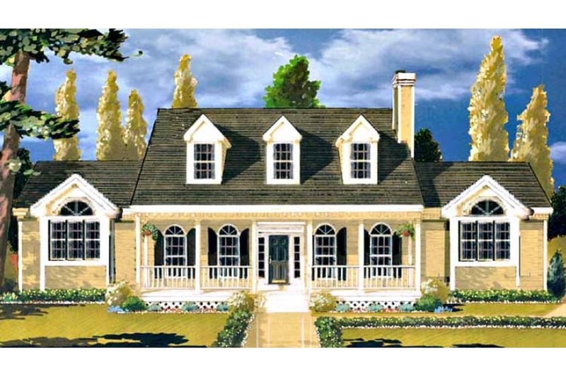 Southern Exterior - Front Elevation Plan #3-145