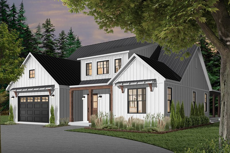 Dream House Plan - Farmhouse Exterior - Front Elevation Plan #23-2690