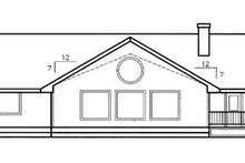 Home Plan Design - Traditional Exterior - Rear Elevation Plan #60-206