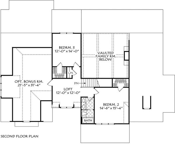 Architectural House Design - Farmhouse Floor Plan - Upper Floor Plan #927-1013
