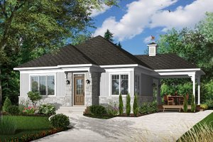 Modern Exterior - Front Elevation Plan #23-2661