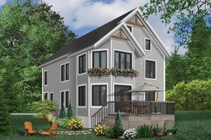 European Exterior - Front Elevation Plan #23-2045
