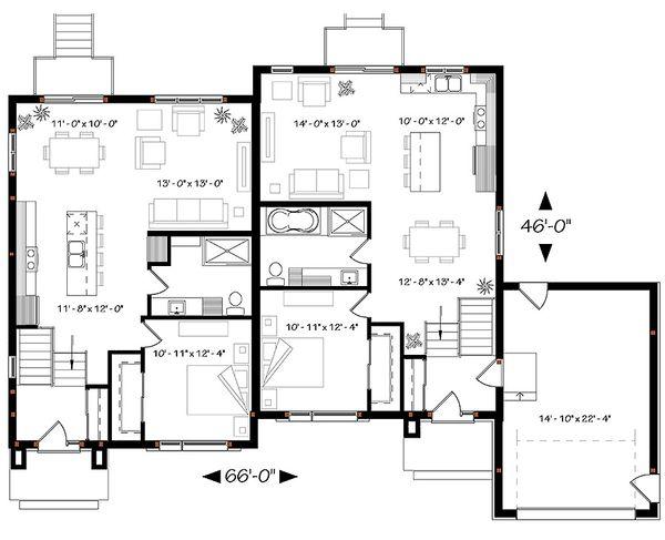 Modern Floor Plan - Main Floor Plan Plan #23-2640
