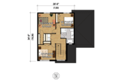 Contemporary Style House Plan - 4 Beds 2 Baths 2481 Sq/Ft Plan #25-4401 Floor Plan - Upper Floor
