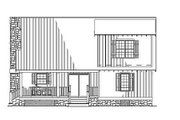 Cottage Style House Plan - 3 Beds 2 Baths 1374 Sq/Ft Plan #17-2018 Exterior - Rear Elevation