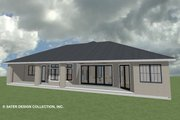 Ranch Style House Plan - 3 Beds 3.5 Baths 2327 Sq/Ft Plan #930-487 Exterior - Rear Elevation