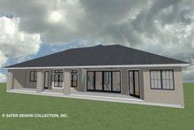 House Plan Design - Ranch Exterior - Rear Elevation Plan #930-487