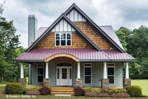 Architectural House Design - Craftsman Exterior - Front Elevation Plan #929-986