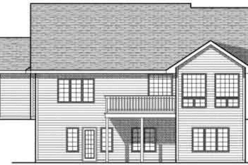 Traditional Exterior - Rear Elevation Plan #70-693 - Houseplans.com