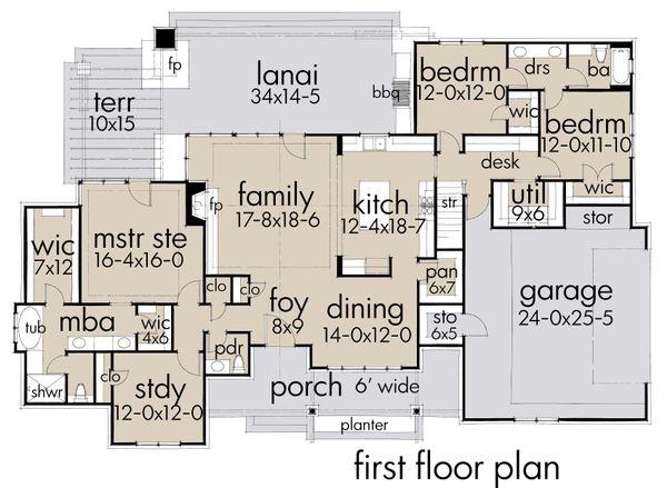 House Plan Design - Farmhouse Floor Plan - Main Floor Plan #120-253