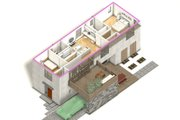 Modern Style House Plan - 3 Beds 3 Baths 1900 Sq/Ft Plan #497-58 Exterior - Other Elevation