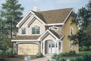 Country Style House Plan - 3 Beds 2.5 Baths 1671 Sq/Ft Plan #57-319 Exterior - Front Elevation