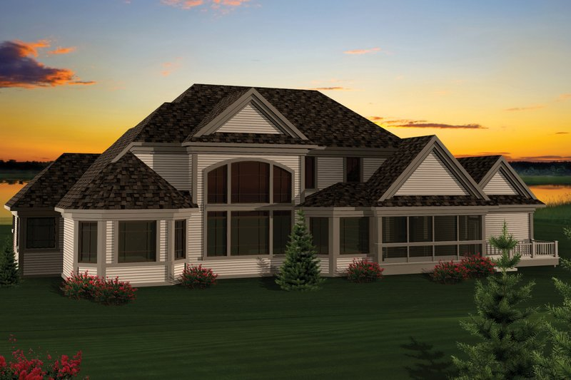 Craftsman Exterior - Rear Elevation Plan #70-1060 - Houseplans.com