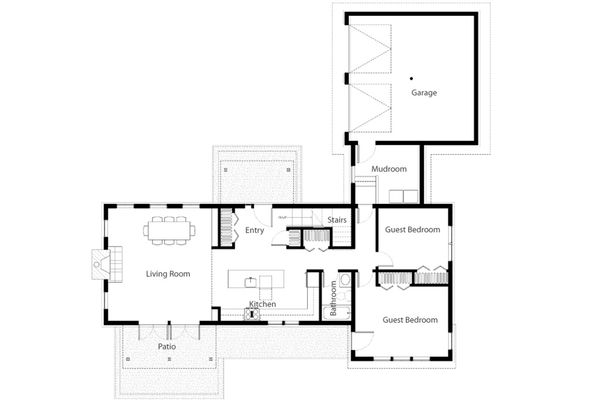 Dream House Plan - Cabin Floor Plan - Main Floor Plan #497-47