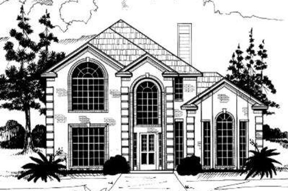 European Exterior - Front Elevation Plan #317-114