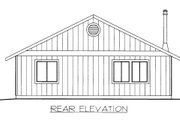 Cabin Style House Plan - 2 Beds 1 Baths 1200 Sq/Ft Plan #117-790 Exterior - Rear Elevation