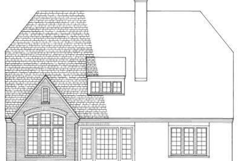 European Exterior - Rear Elevation Plan #137-168 - Houseplans.com